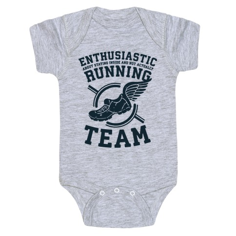 Enthusiastic Running Team Baby Onesy