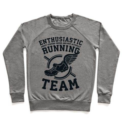 Enthusiastic Running Team Pullover