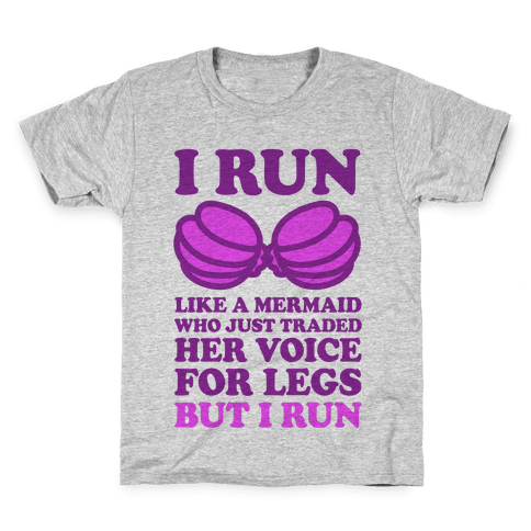 I Run Like A Mermaid Kids T-Shirt