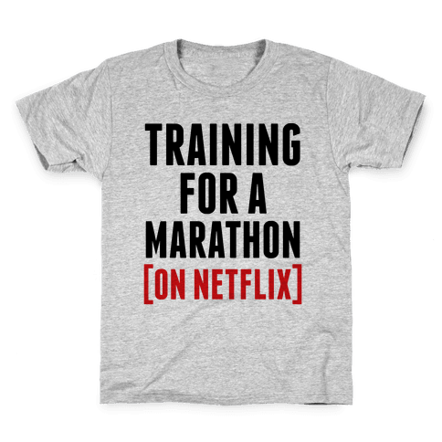 Training for a Marathon (On Netflix) Kids T-Shirt