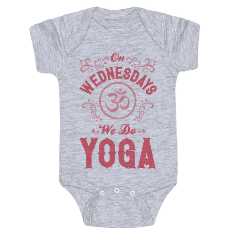 On Wednesday We Do Yoga Baby Onesy