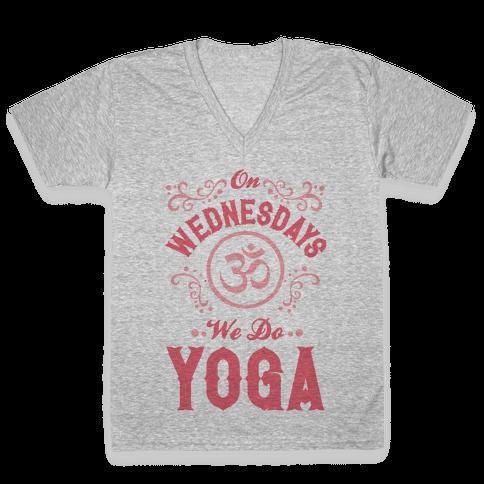 On Wednesday We Do Yoga V-Neck Tee Shirt