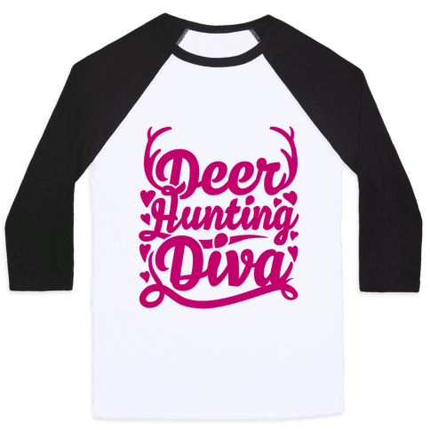 Deer Hunting Diva Baseball Tee