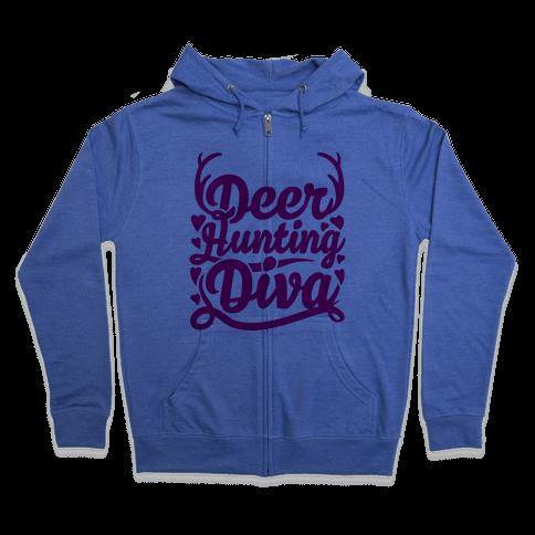 Deer Hunting Diva Zip Hoodie