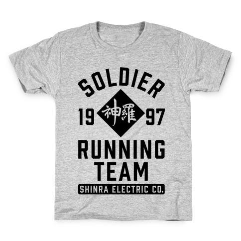 Soldier Running Team Kids T-Shirt