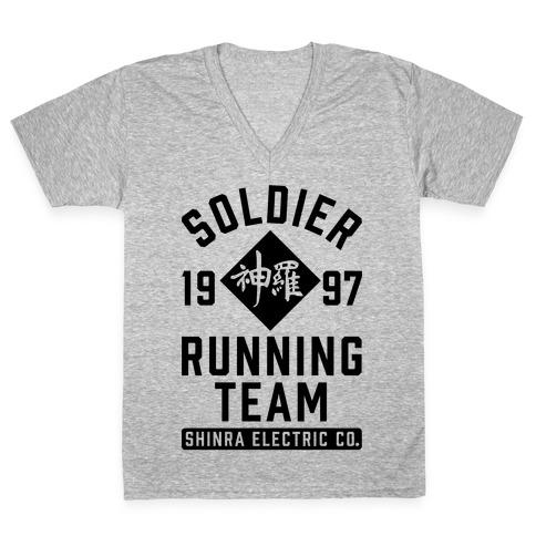 Soldier Running Team V-Neck Tee Shirt