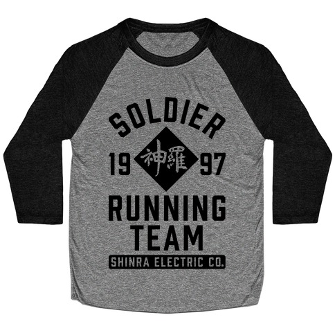 Soldier Running Team Baseball Tee