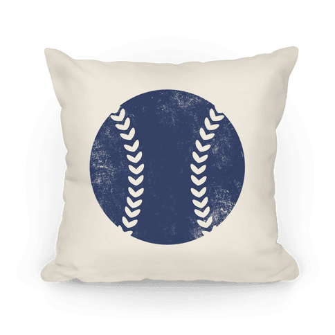 Blue Baseball Pillow Pillow
