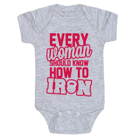 Every Woman Should Know How To Iron Baby Onesy