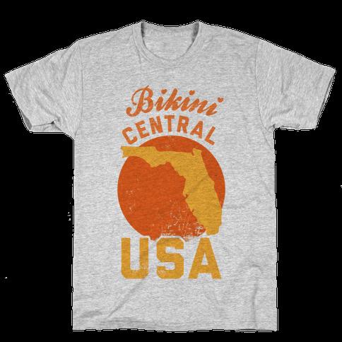 Bikini Central USA (Florida) Mens T-Shirt