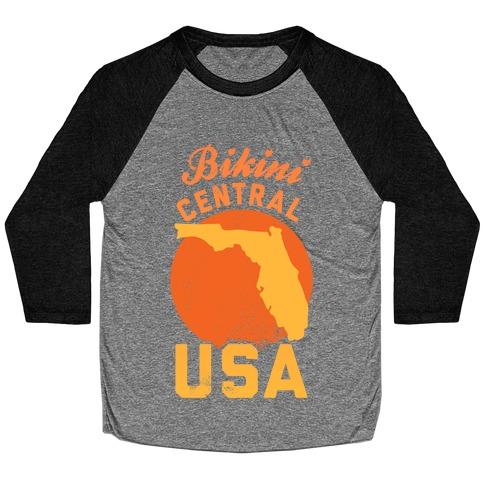 Bikini Central USA (Florida) Baseball Tee