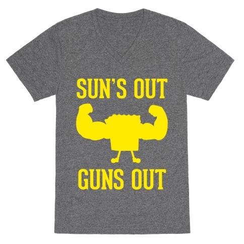Sun's Out Guns Out V-Neck Tee Shirt