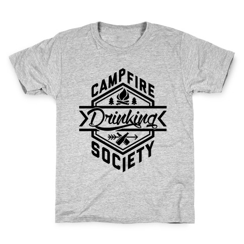 Campfire Drinking Society Kids T-Shirt
