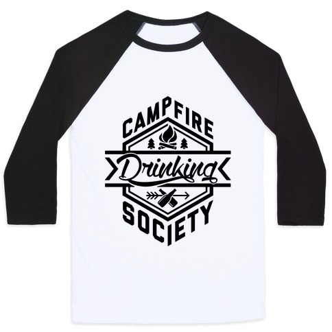 Campfire Drinking Society Baseball Tee