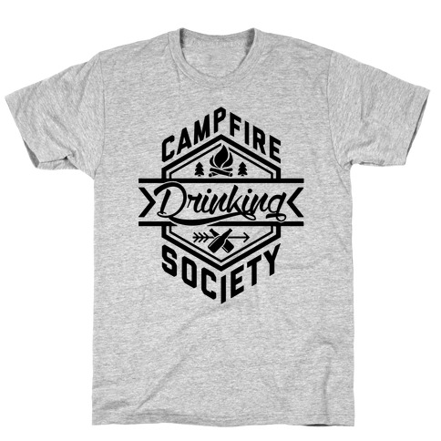Campfire Drinking Society Mens T-Shirt