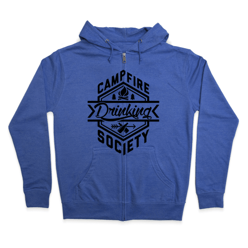 Campfire Drinking Society Zip Hoodie
