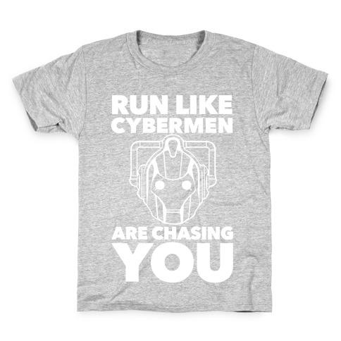 Run Like Cybermen Are Chasing You Kids T-Shirt