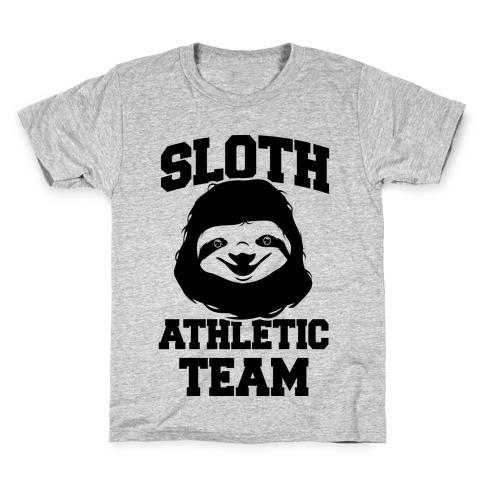 Sloth Athletic Team Kids T-Shirt