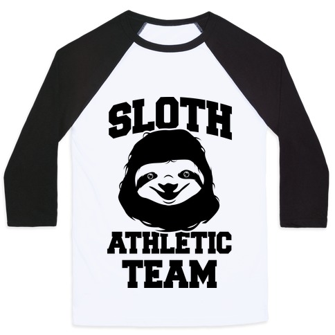 Sloth Athletic Team Baseball Tee