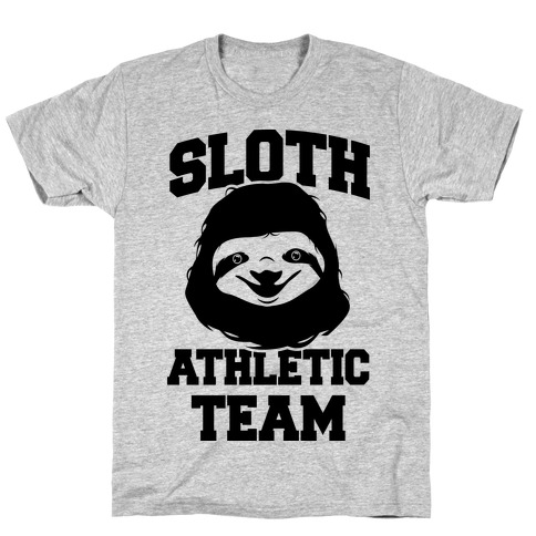 Sloth Athletic Team Mens T-Shirt