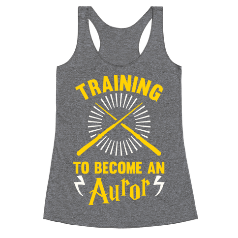 Training To Become An Auror Racerback Tank Top