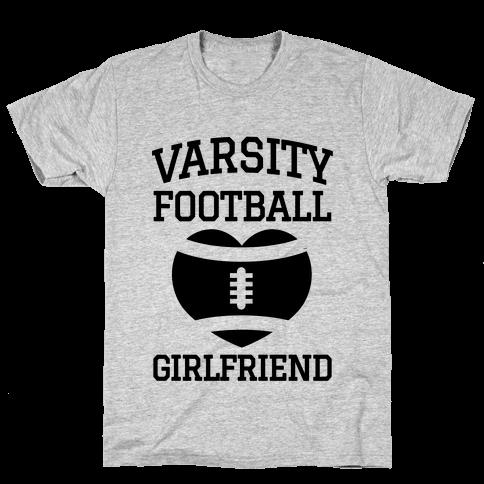 Varsity Football Girlfriend  Mens T-Shirt