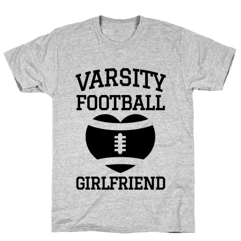 Varsity Football Girlfriend  Mens T-Shirt