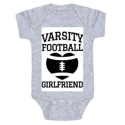 Varsity Football Girlfriend Baby Onesy