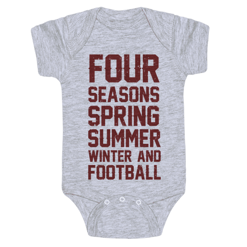 Four Seasons Spring Summer Winter And Football Baby Onesy