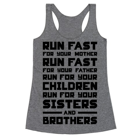 Run Fast Racerback Tank Top