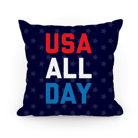 USA All Day Pillow