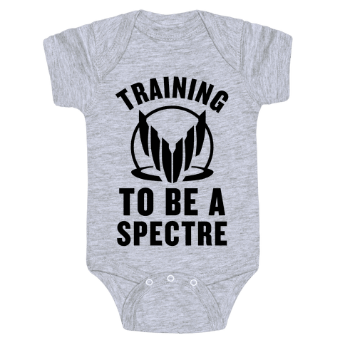 Training To Be A Spectre Baby Onesy