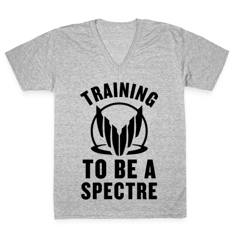 Training To Be A Spectre V-Neck Tee Shirt
