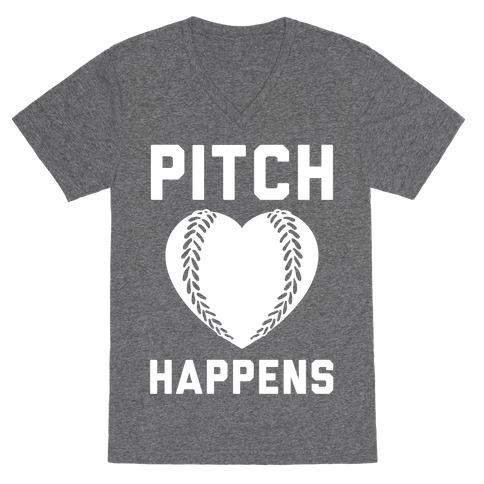 Pitch Happens V-Neck Tee Shirt