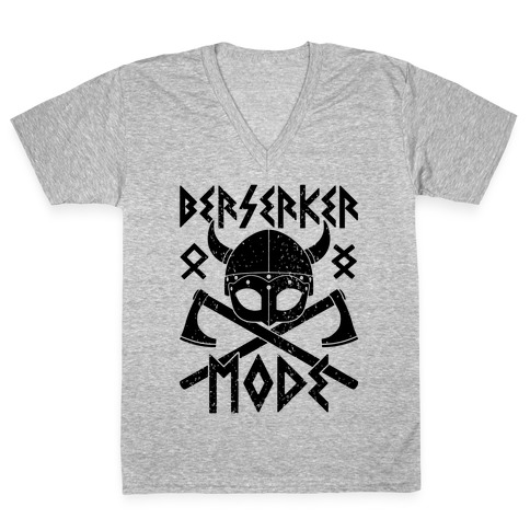 Berserker Mode V-Neck Tee Shirt