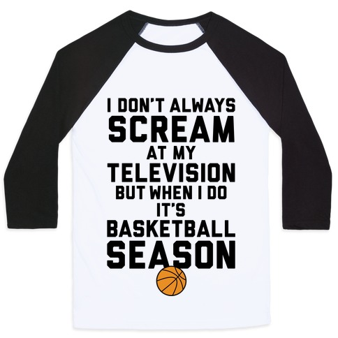 Basketball Season Baseball Tee