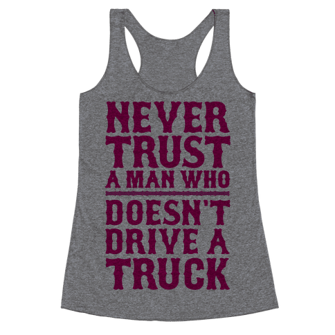 Never Trust A Man Who Doesn't Like Cats Racerback Tank Top