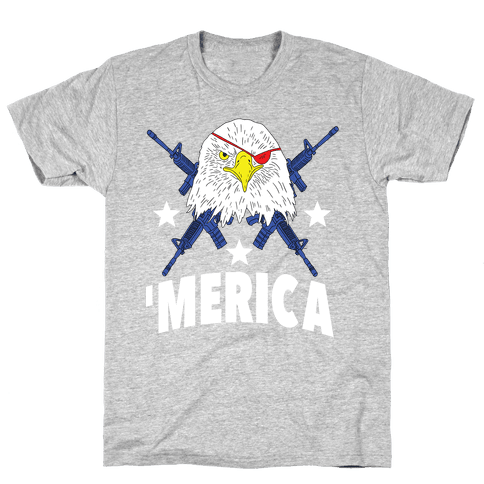 Bad Ass Bald Eagle Mens T-Shirt