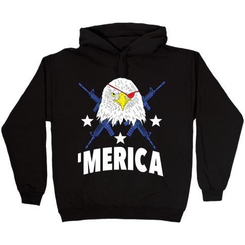 Bad Ass Bald Eagle Hooded Sweatshirt