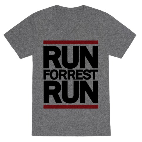 Run Forrest Run V-Neck Tee Shirt