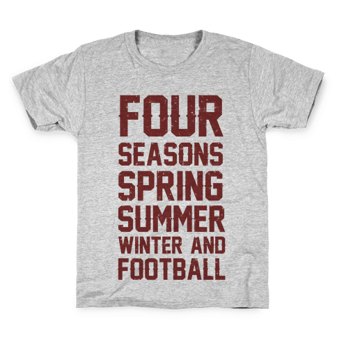 Four Seasons Spring Summer Winter And Football Kids T-Shirt