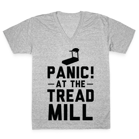 Panic! At The Treadmill V-Neck Tee Shirt