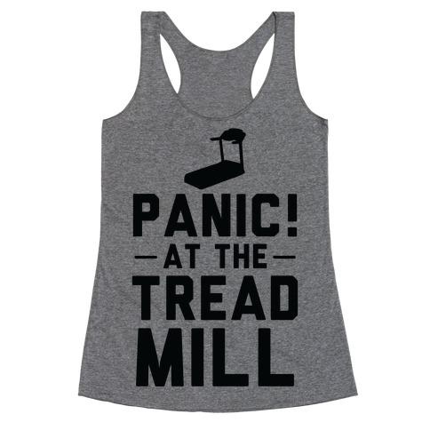 Panic! At The Treadmill Racerback Tank Top