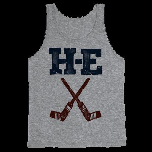 H E Double Hockey Sticks (Hell) Tank Top