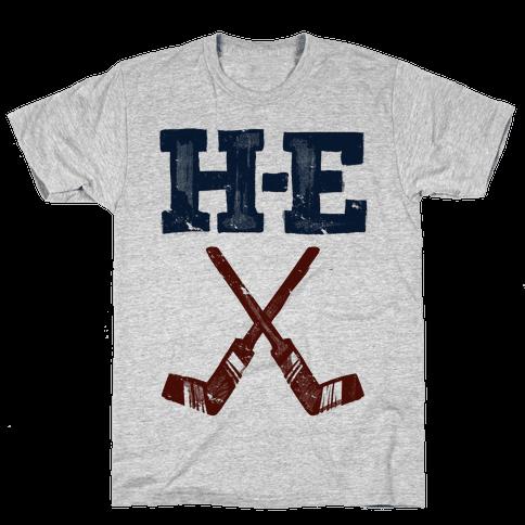 H E Double Hockey Sticks (Hell) Mens T-Shirt