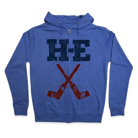 H E Double Hockey Sticks (Hell) Zip Hoodie