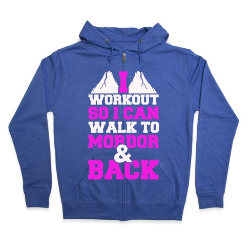 Workout Fellowship Style Zip Hoodie