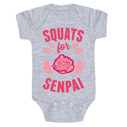 Squats For Senpai Baby Onesy