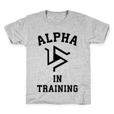 Alpha In Training Kids T-Shirt