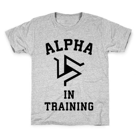Alpha In Training Kids T-Shirt
